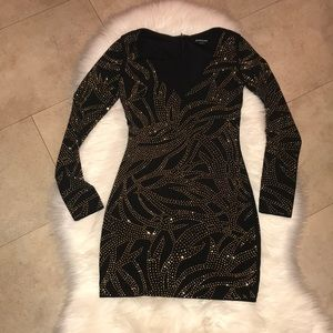 Bebe Mini Long Sleeve Dress